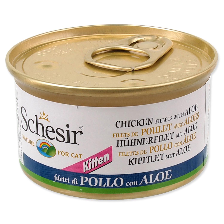 Konzerva SCHESIR Kitten kuřecí + aloe