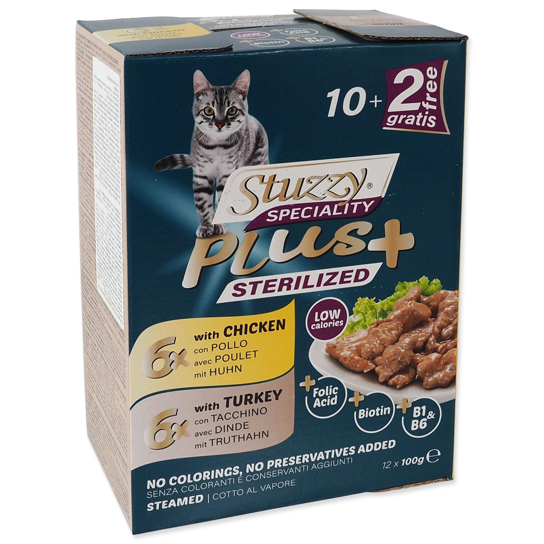 Kapsička STUZZY Speciality Plus Sterilized kuře, krůta multipack