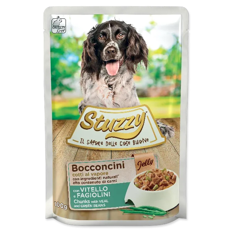 Kapsička STUZZY Dog telecí + fazole v želé