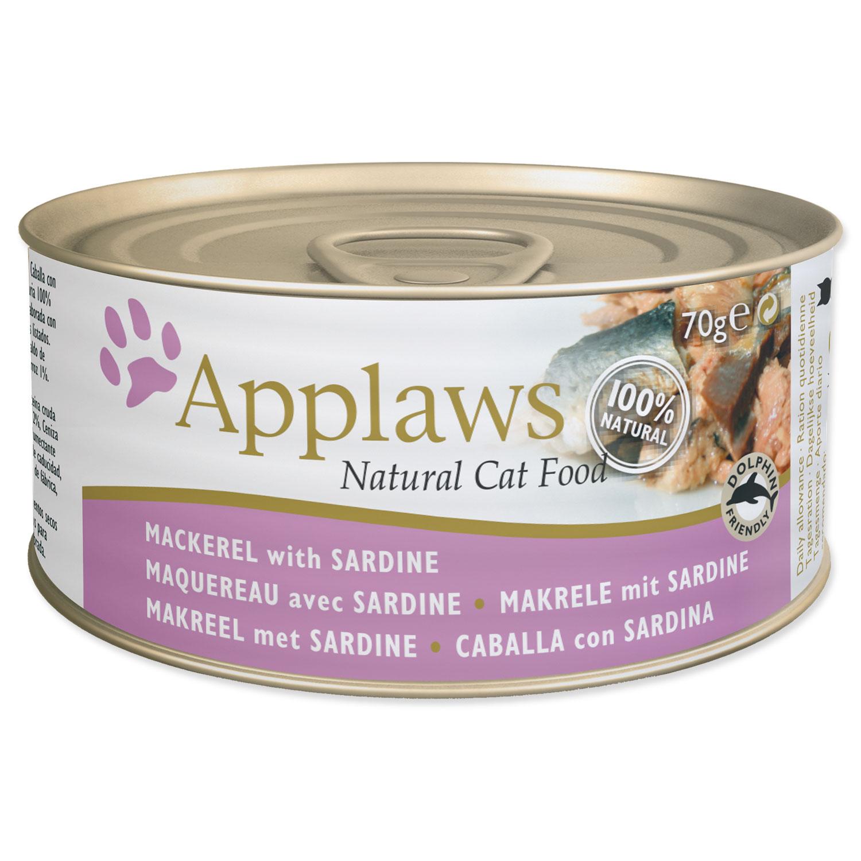 Konzerva APPLAWS Cat Mackerel & Sardine 70g