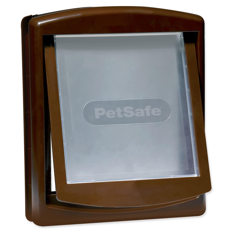 Dvířka PETSAFE hnědá s transparentním flapem 755