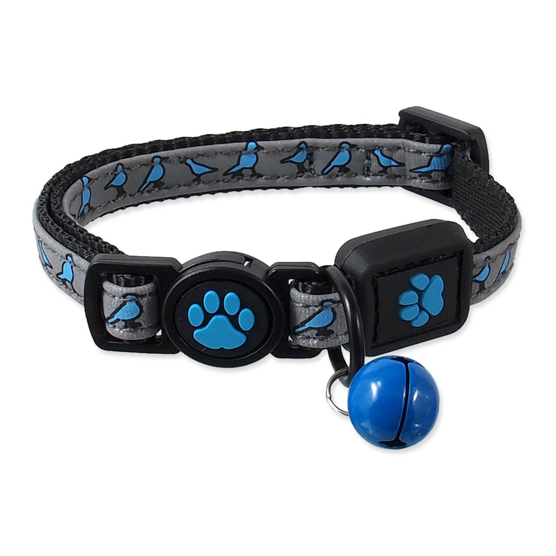 Obojek ACTIVE CAT Reflective modrý XXS