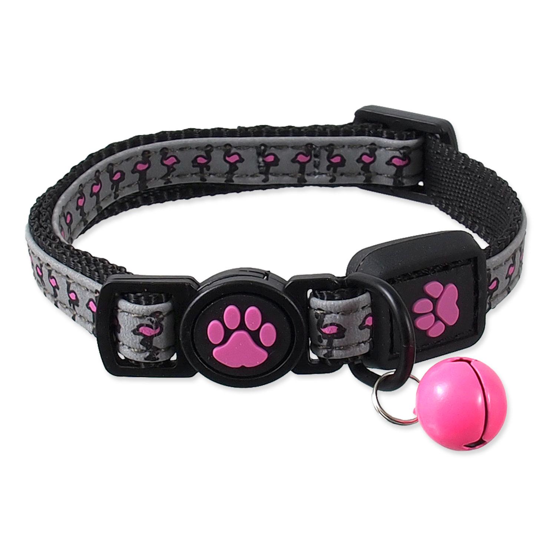 Obojek ACTIVE CAT Reflective růžový XXS