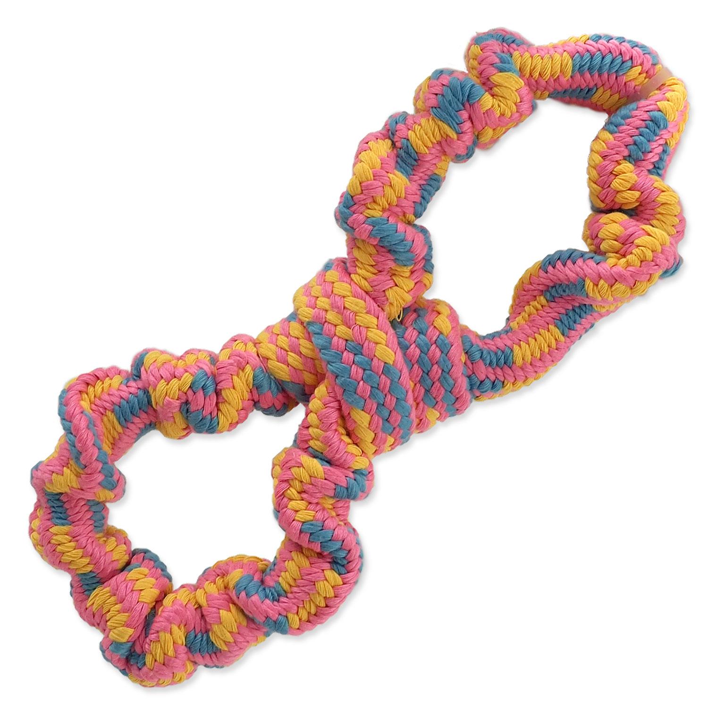 Přetahovadlo DOG FANTASY osmička barevné vzor 2 - 25 cm