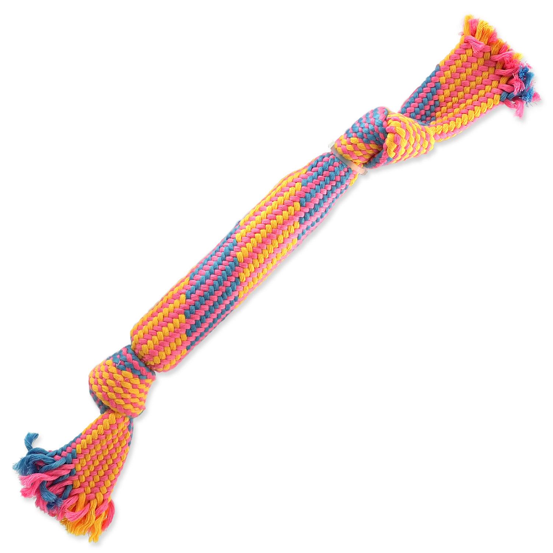 Přetahovadlo DOG FANTASY barevné se zvukem vzor 2, 2 knoty - 40 cm