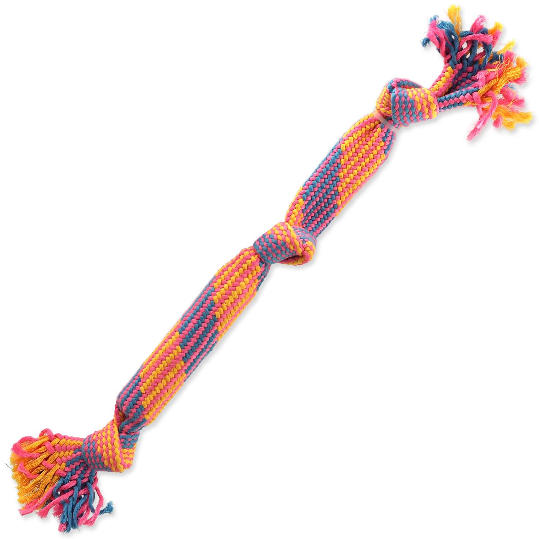 Přetahovadlo DOG FANTASY barevné se zvukem vzor 2, 3 knoty - 53 cm