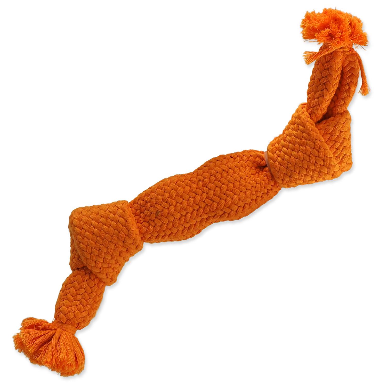 Uzel DOG FANTASY oranžový pískací 2 knoty 35 cm