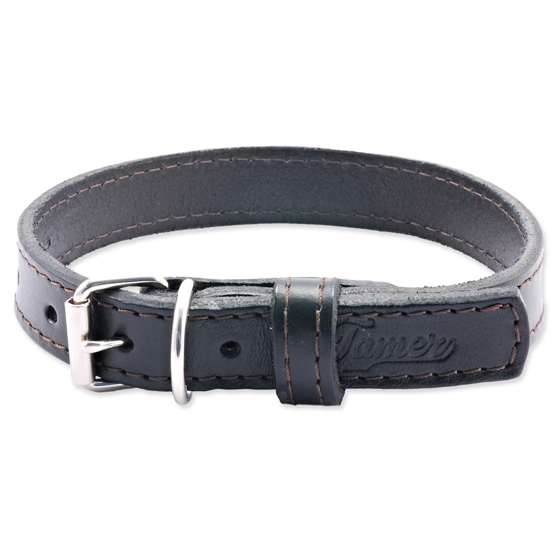 Obojek TAMER kožený 1,9 / 45 cm černý