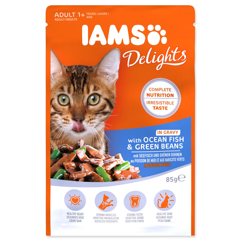 Kapsička IAMS Cat Delights Ocean Fish & Green Beans in Gravy
