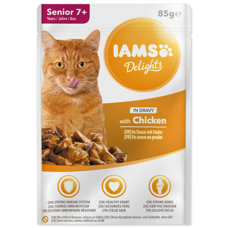 Kapsička IAMS Cat Senior Delights Chicken in Gravy 85g