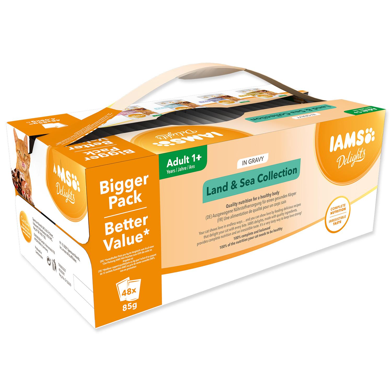 Kapsičky IAMS Cat výběr z mořských a suchozemských mas v omáčce multipack