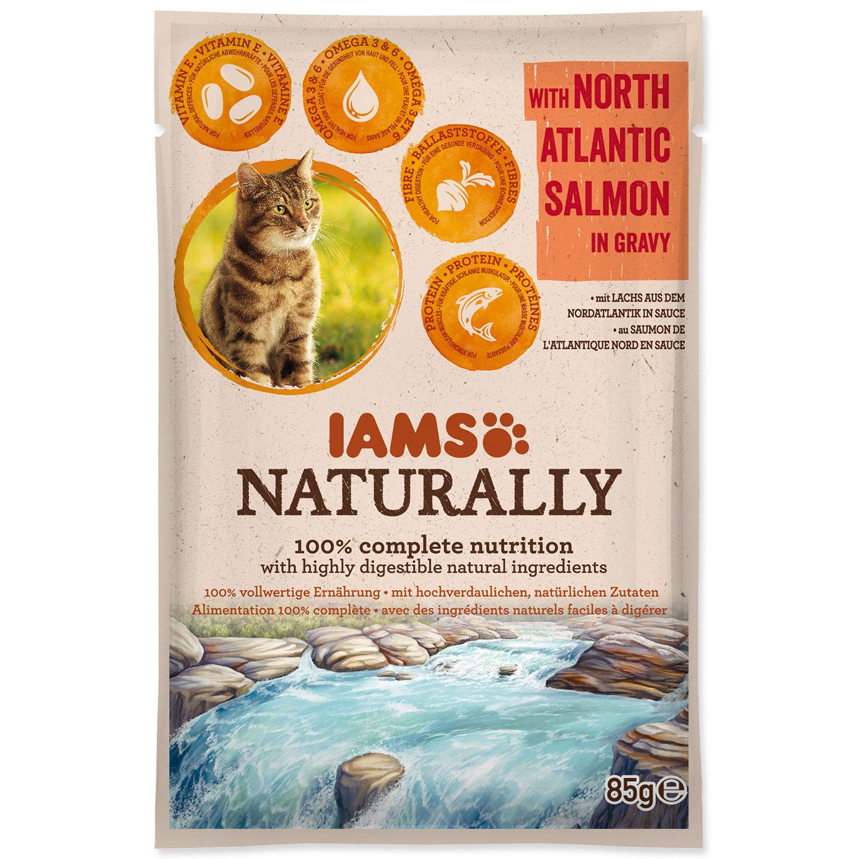 Kapsička IAMS Cat Naturally with North Atlantic Salmon in Gravy