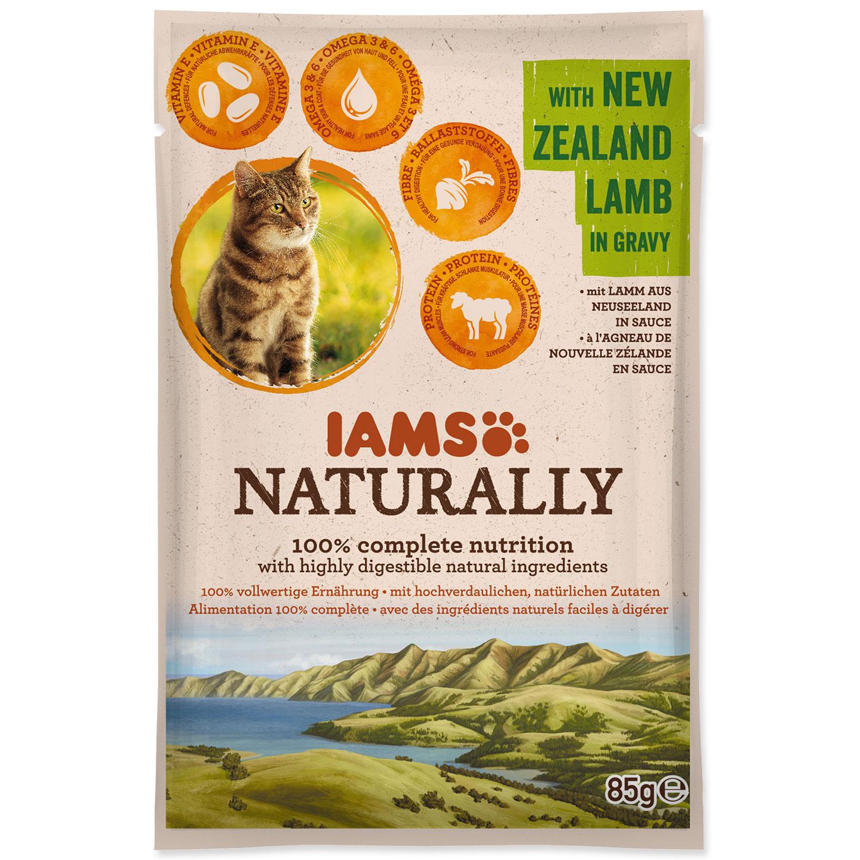 Kapsička IAMS Cat Naturally with New Zealand Lamb in Gravy