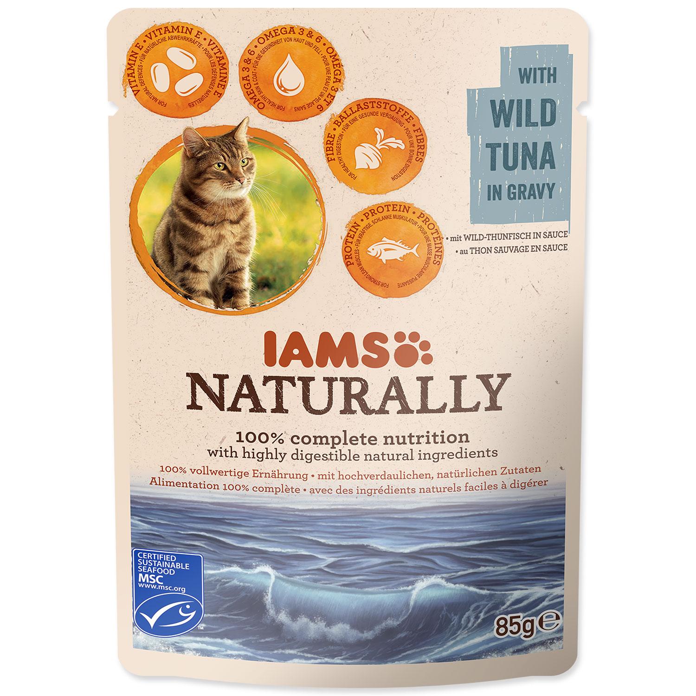 Kapsička IAMS Cat Naturally with Wild Tuna in Gravy