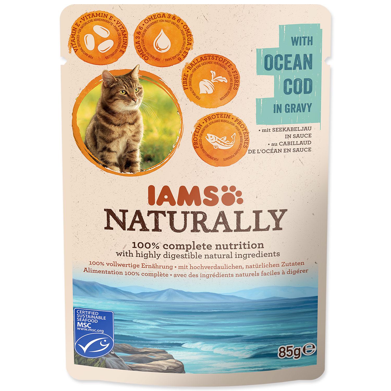 Kapsička IAMS Cat Naturally with Natural Cod in Gravy