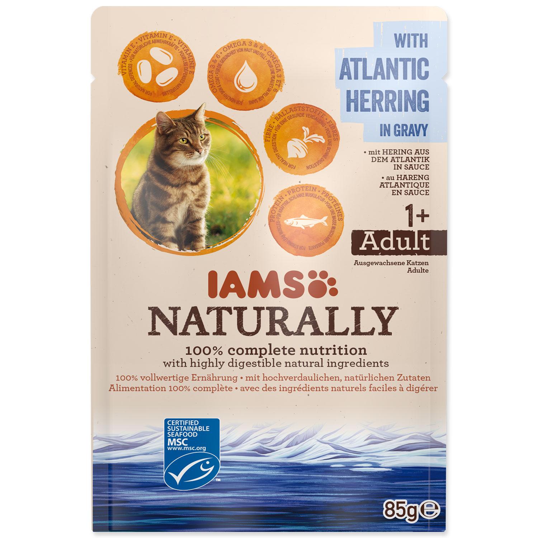 Kapsička IAMS Cat Naturally with Atlantic Herring in Gravy