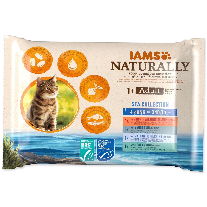 Kapsičky IAMS Cat Naturally výběr z mořských mas multipack