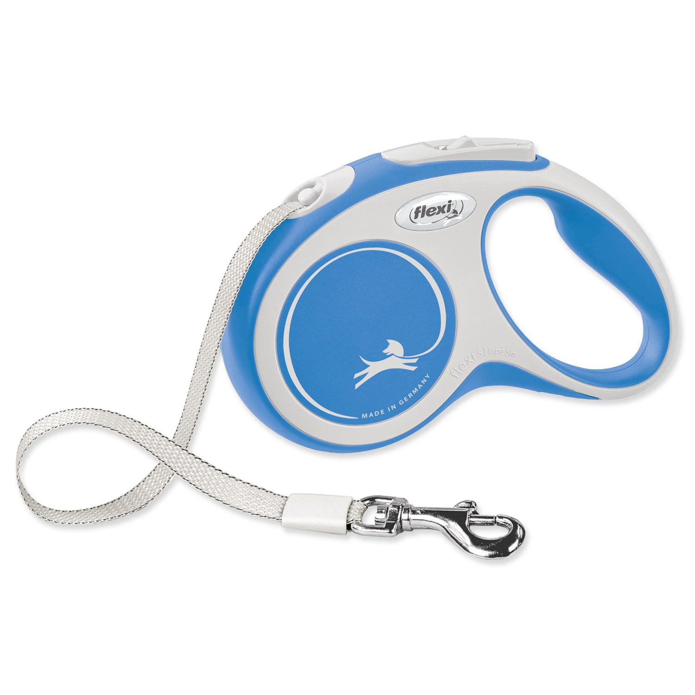 Vodítko FLEXI New Comfort páska modré S - 5 m