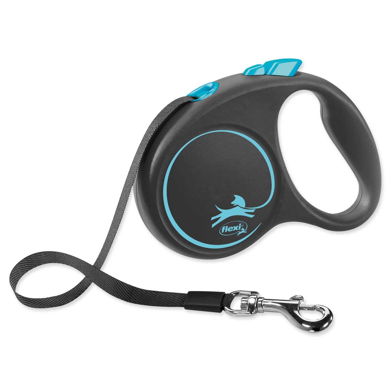Vodítko FLEXI Black Design páska modré S - 5 m