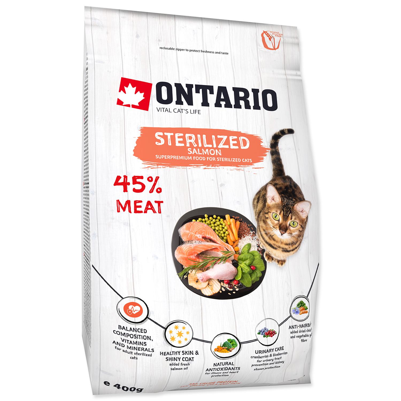 ONTARIO Cat Sterilised Salmon 0.4kg