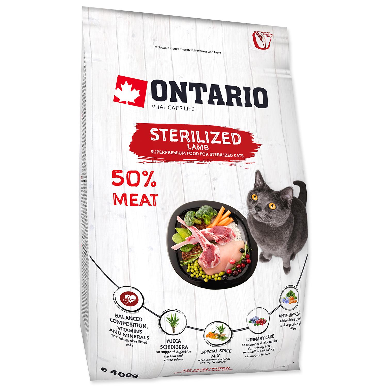 ONTARIO Cat Sterilised Lamb 0.4kg