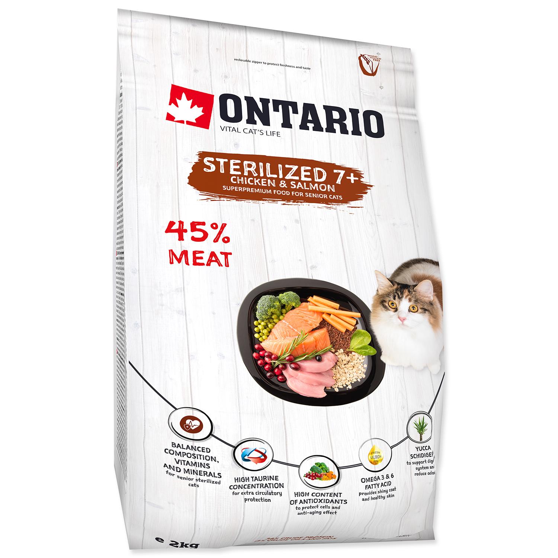 ONTARIO Cat Sterilised 7+ 2kg