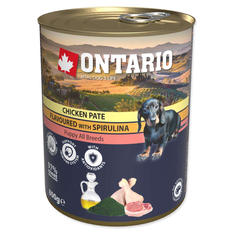 Konzerva ONTARIO Puppy Chicken Pate Flavoured With Spirulina And Salmon Oil