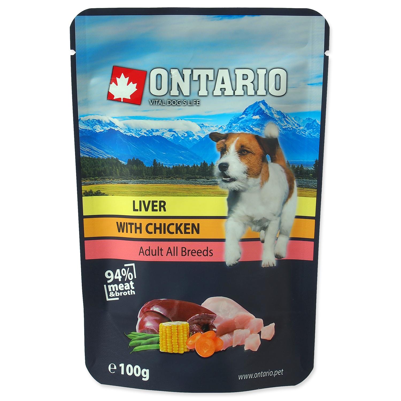 Kapsička ONTARIO Dog Liver with Chicken in Broth