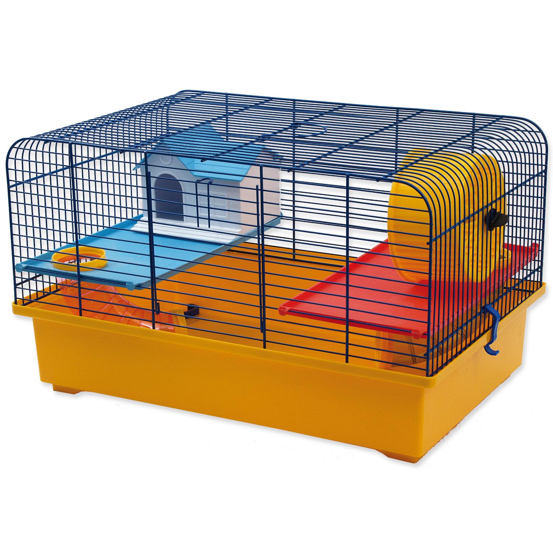Klec SMALL ANIMALS CH1 modrá + žlutá