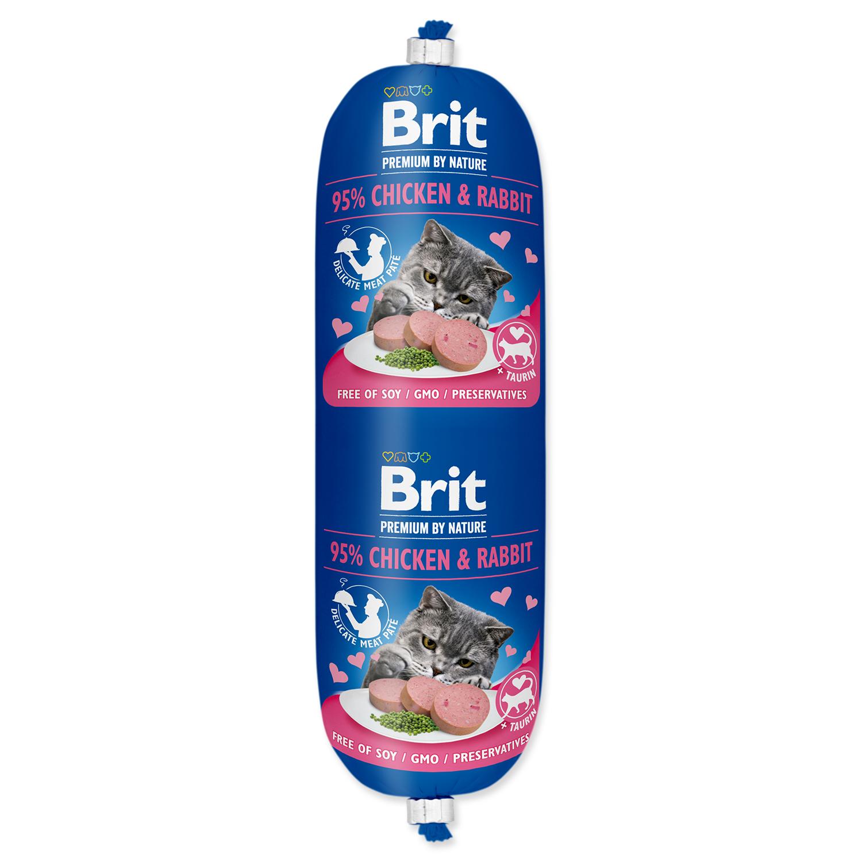 BRIT Premium by Nature Sausage CAT Chicken & Rabbit 180g