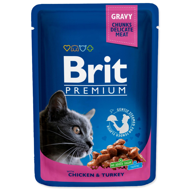 Kapsička BRIT Premium Cat Chicken & Turkey