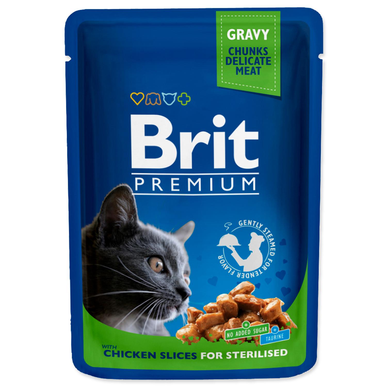 Kapsička BRIT Premium Cat Chicken Slices for Sterilised