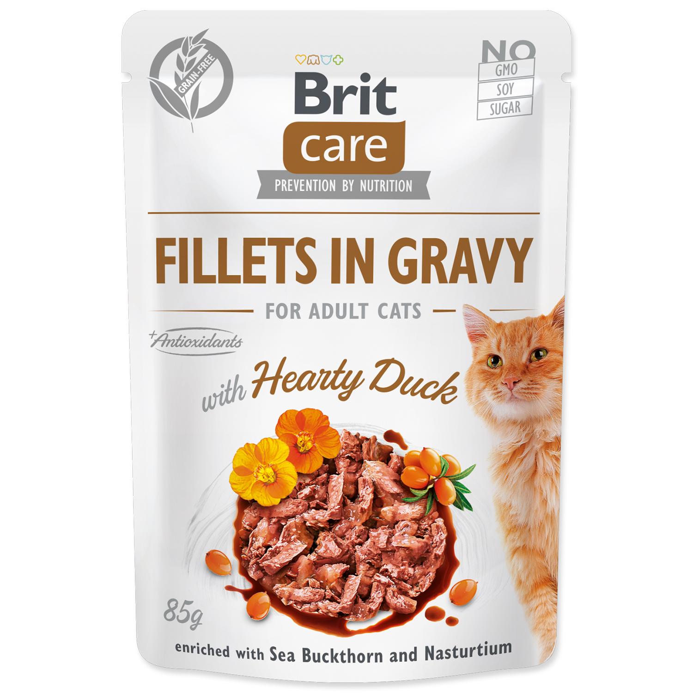 Kapsička BRIT Care Cat Fillets in Gravy with Hearty Duck