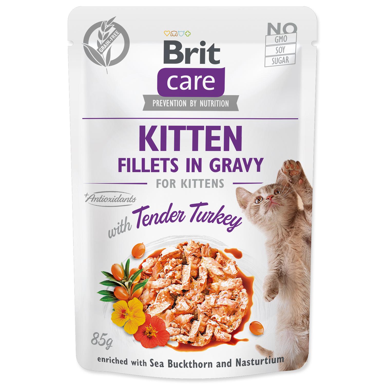 Kapsička BRIT Care Cat Kitten Fillets in Gravy with Tender Turkey