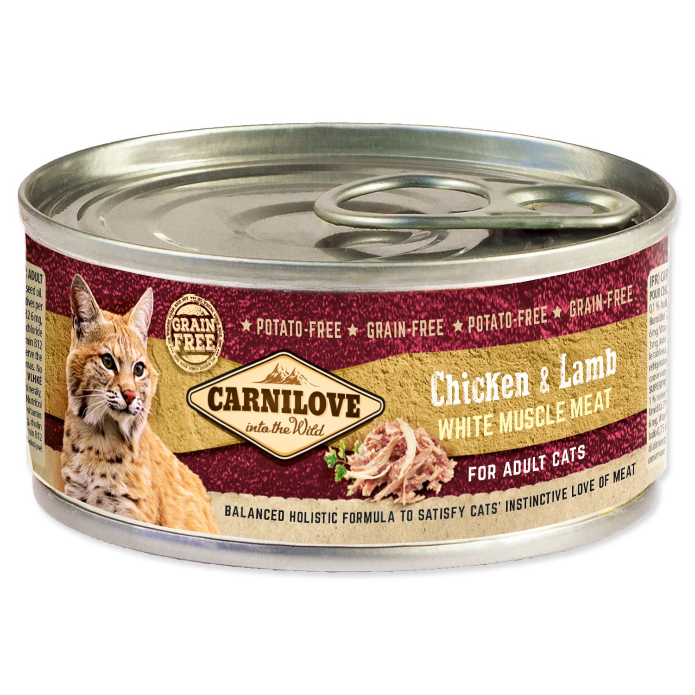 Konzerva CARNILOVE Chicken & Lamb for Adult Cats 100g