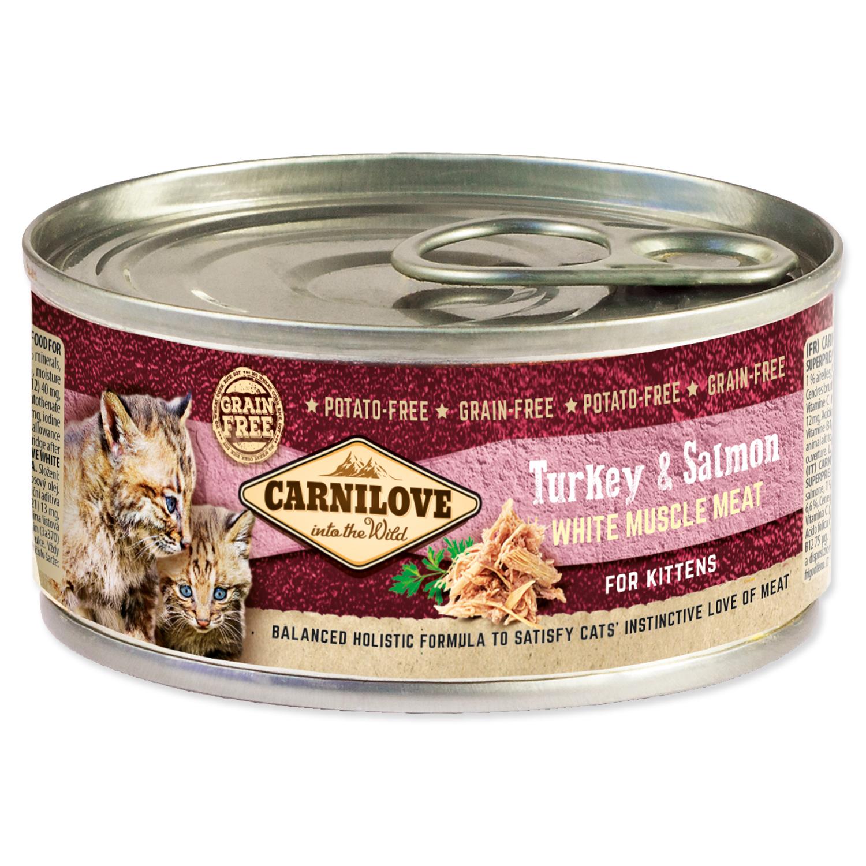 Konzerva CARNILOVE WMM Turkey & Salmon for Kittens