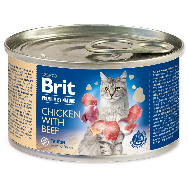 Konzerva BRIT Premium by Nature Chicken with Beef