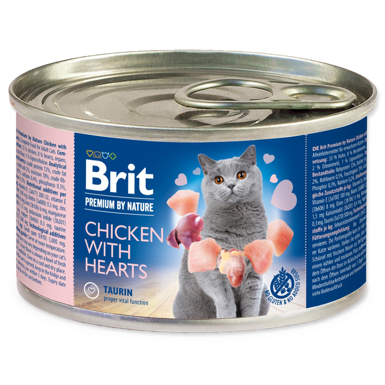 Konzerva BRIT Premium by Nature Chicken with Hearts