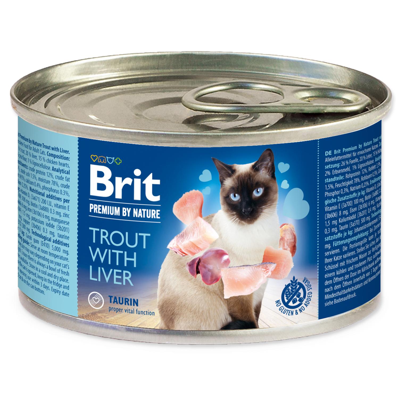 Konzerva BRIT Premium by Nature  Trout with Liver