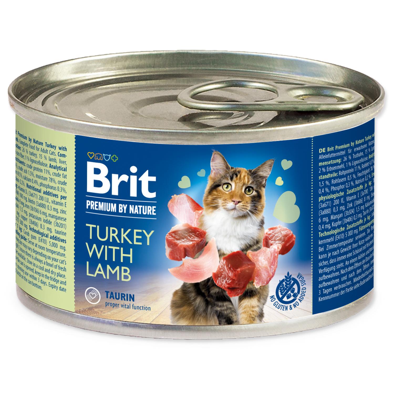 Konzerva BRIT Premium by Nature Turkey with Lamb