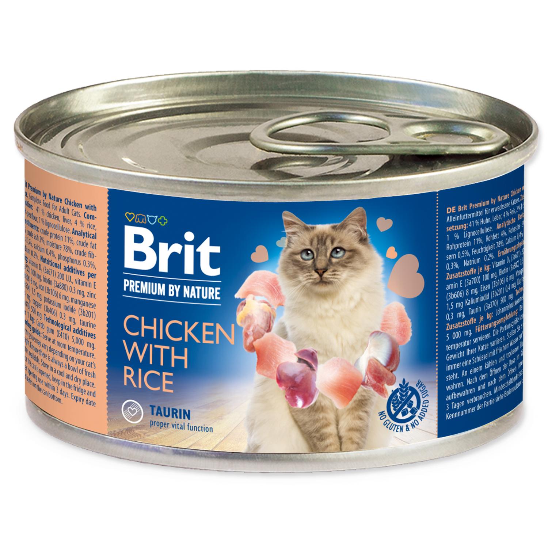 Konzerva BRIT Premium by Nature Chicken with Rice