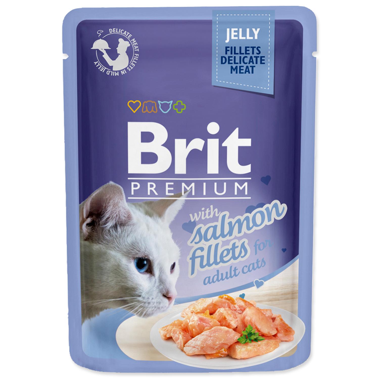 Kapsička BRIT Premium Cat Delicate Fillets in Jelly with Salmon