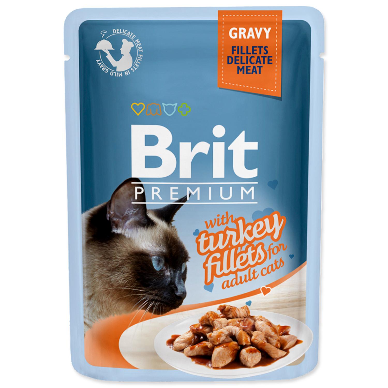 Kapsička BRIT Premium Cat Delicate Fillets in Gravy with Turkey