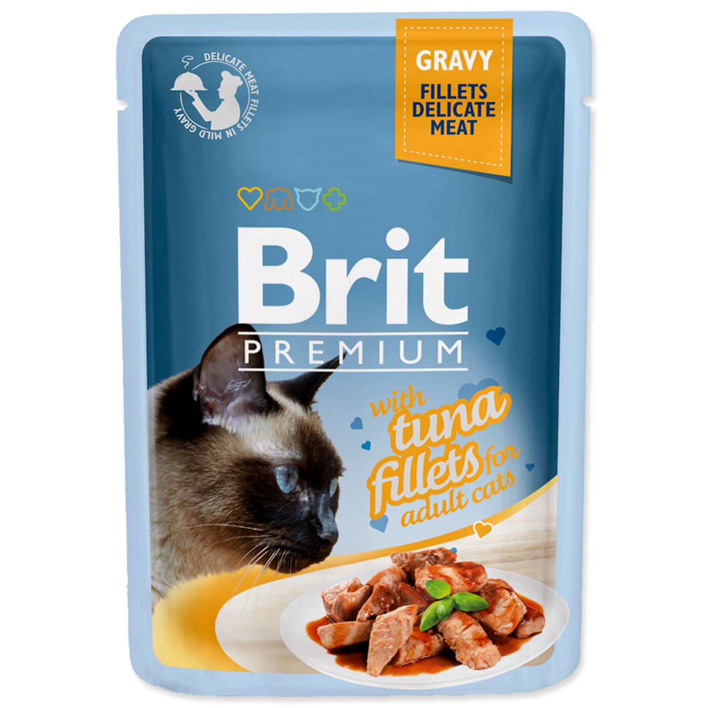 Kapsička BRIT Premium Cat Delicate Fillets in Gravy with Tuna 85g