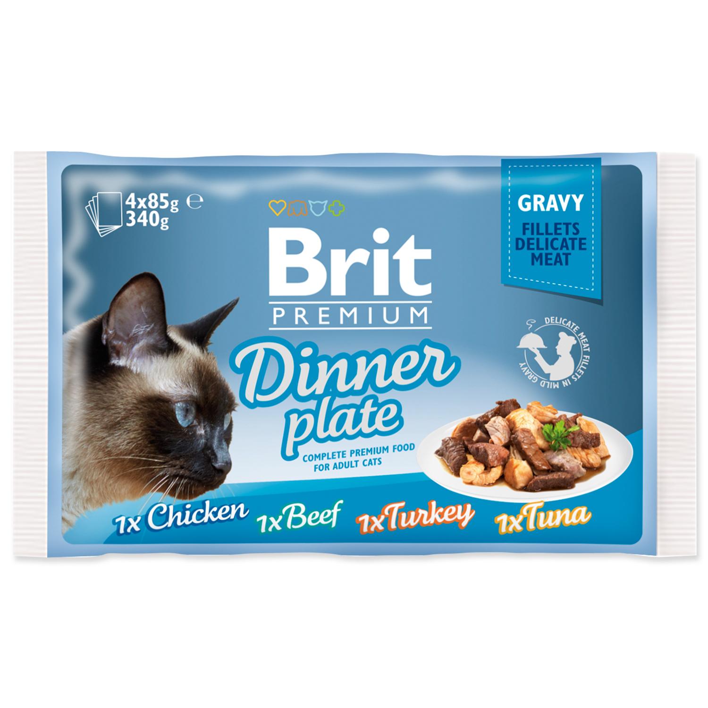 Kapsičky BRIT Premium Cat Delicate Fillets in Gravy Dinner Plate