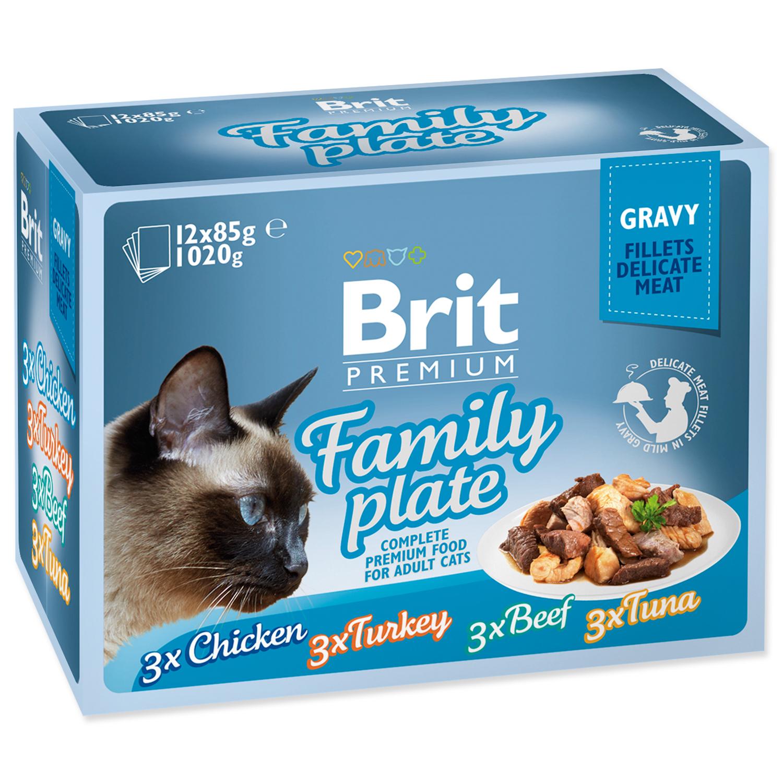 Kapsičky BRIT Premium Cat Delicate Fillets in Gravy Family Plate