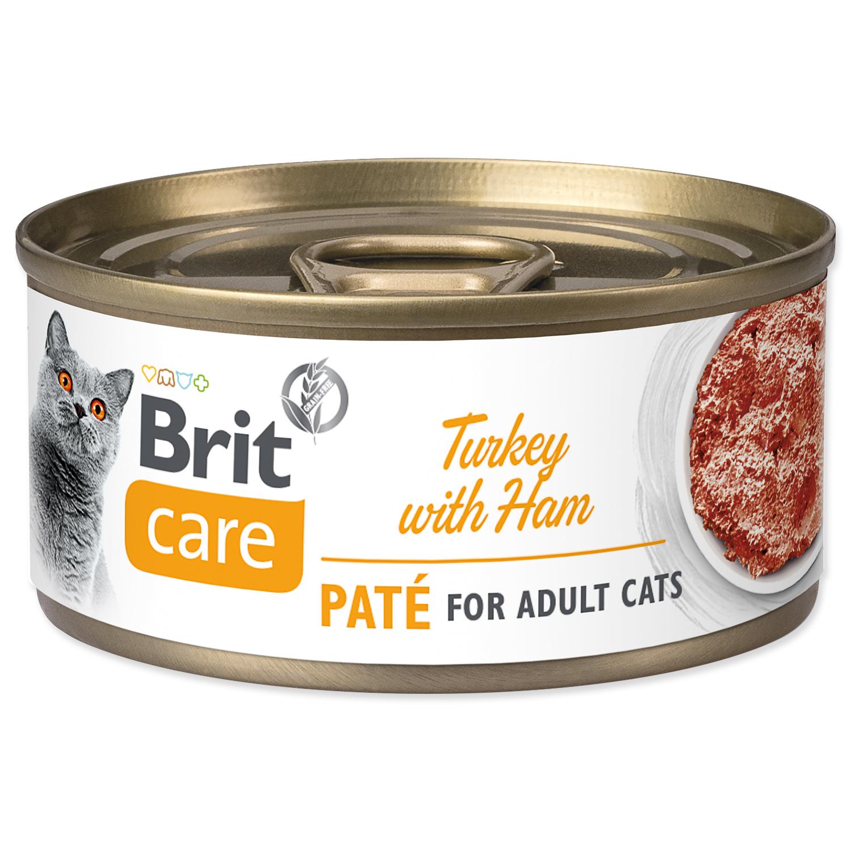 Konzerva BRIT Care Cat Turkey Paté with Ham