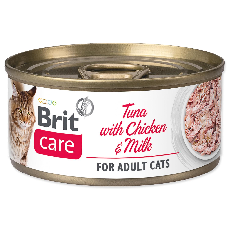 Konzerva BRIT Care Cat Tuna with Chicken And Milk