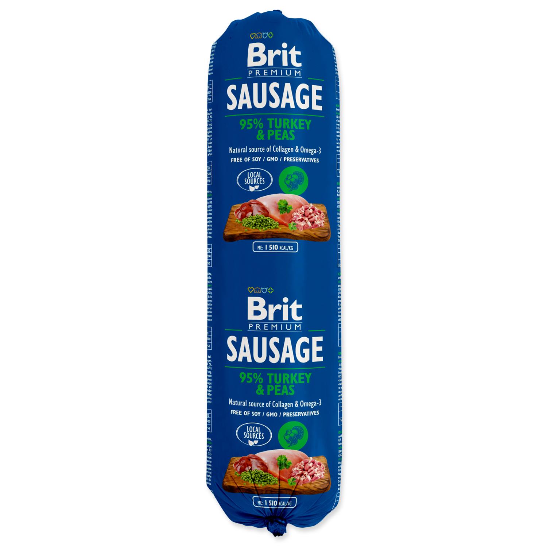 Salám BRIT Premium Dog Sausage Turkey & Peas