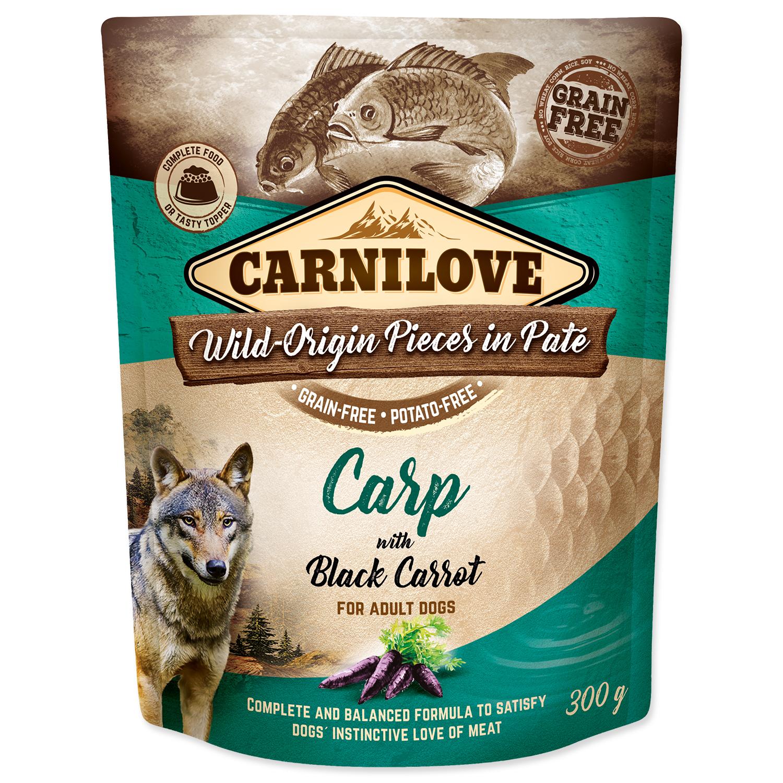Kapsička CARNILOVE Dog Paté Carp with Black Carrot